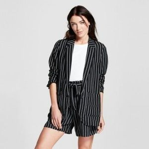 Women's Striped Linen Blazer - A New Day